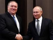 普京会见美国务卿蓬佩奥 会谈结束后,乌沙科夫透露了这些信息